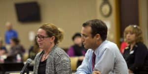 upset parents speaking to council