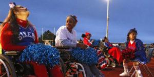 cheerleaders in wheelchairs