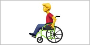 emoji of man in wheelchair